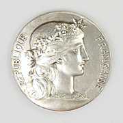 French Solid Silver Marianne Medal -Daniel Dupuis / A Noel