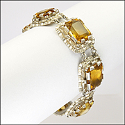 European Silver and Citrine Bracelet
