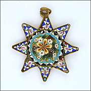 Italian Circa 1910-1920 Micro-Mosaic Star Pendant
