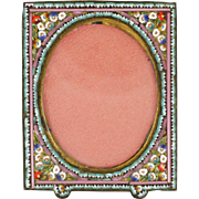 Italian Micro-Mosaic Daisy Small Standing Frame