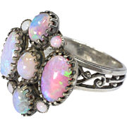Arts & Crafts French Silver and Opal Ring