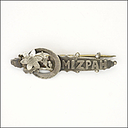 Victorian English 1898 Silver 'MIZPAH' Pin