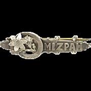 Victorian English 1898 Silver 'MIZPAH' Pin