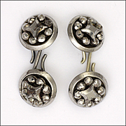 Victorian Cut Steel Cufflinks