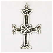 English Sterling Silver Celtic Cross - Hallmarked 1958
