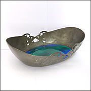 Archibald Knox 'Tudric' Pewter and Enamel Dish - Designed For LIBERTY