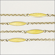 """935 Silver and Enamel Chain Necklace - 32"""" - Germany"""