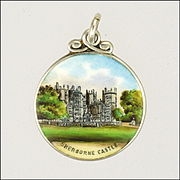 English Sterling Silver Enamel Sherborne Castle Charm