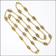 "French Gold Filled Decorative Necklace - 31"" Long"