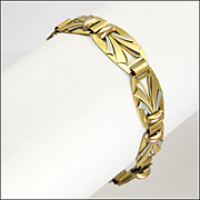 French Gold Filled Art  Deco Style Bracelet - ORIA