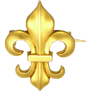 French 18K Gold Filled Fleur De Lis Pin - ORIA