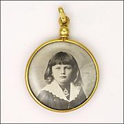 French Circa 1900 Gold Filled Photo Locket - ORIA