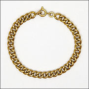 "French 18K Gold Filled Child's  Bracelet - MURAT - 5 and 7/8"""