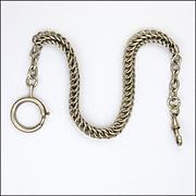 French Circa 1900-1910 Silver Watch Chain Bracelet