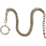 French Circa 1900-1910 Silver Watch Chain Bracelet