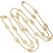 French Gold Filled Opera Length Necklace - FIX