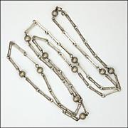 Art Deco 835 Silver Opera Length Necklace - Germany