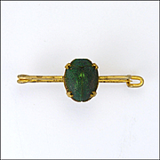Victorian Egyptial Revival Genuine Scarab Beetle on Gilt Brass Pin