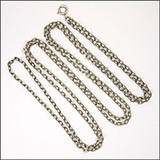 "French Heavy Silver Guard Chain -56"" -28.7 grams"