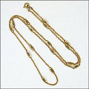 French Art Deco Gold Filled Necklace - ORIA