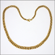 French Gold Filled 'Night and Day' Necklace - MURAT