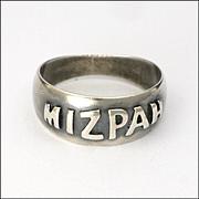 Victorian 1893 Sterling Silver MIZPAH Ring