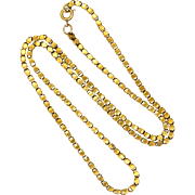 Victorian Pinchbeck Box Chain Necklace - 19""