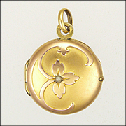 French Art Nouveau Gold Filled Locket - ORIA