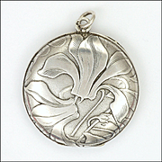 Art Nouveau German Jugendstil Silver Locket