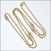 French 18K Gold Plated or Gold Filled Decorative Necklace - 30""