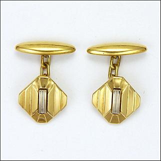 French Art Deco Gold Filled Cufflinks - ORIA