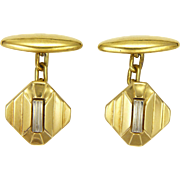 French Art Deco Gold Filled Cufflinks - ORIA