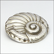 Art Deco Danish 830 Silver Large Snail Pin - GRANN and LAGLYE