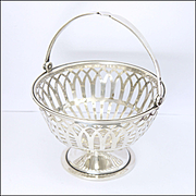 English 1925 Sterling Silver Bon Bon Basket - ADIE BROS