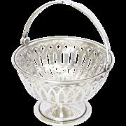 English 1925 Sterling Silver Bon Bon Basket - ADIE BROS