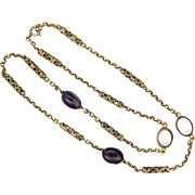 Arts and Crafts Silver Gilt Amethyst and Rock Crystal Necklace