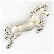 English Sterling Silver Horse Brooch - GEORGE TARRATT