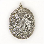 Victorian Silver Paisley Design Locket