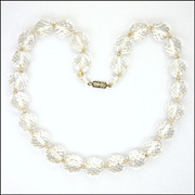 Art Deco Faceted Crystal Glass Necklace