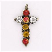 European Silver Pastes Cross Pendant