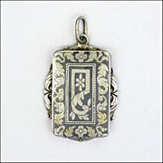 Victorian Silver Niello Locket