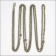 "French Decorative Belcher Silver Guard Chain -54"" -28.9 grams"