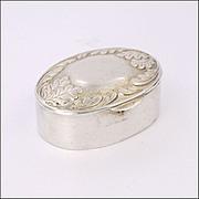 French Silver Oak Leaves Pill Box -Minerva's Head Hallmark