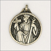 French King Henry Silver Plated Medal - Fernand PY