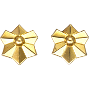 French Art Deco Gold Filled Earrings -FIX