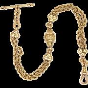 Victorian 15K Gold Albertina Bracelet