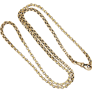 """Victorian 9K Gold Belcher Chain Necklace - 23½"""" - 14 grms"""
