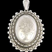 Victorian Sterling Silver Engraved Locket