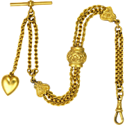 Victorian Gold Plated Albertina Bracelet