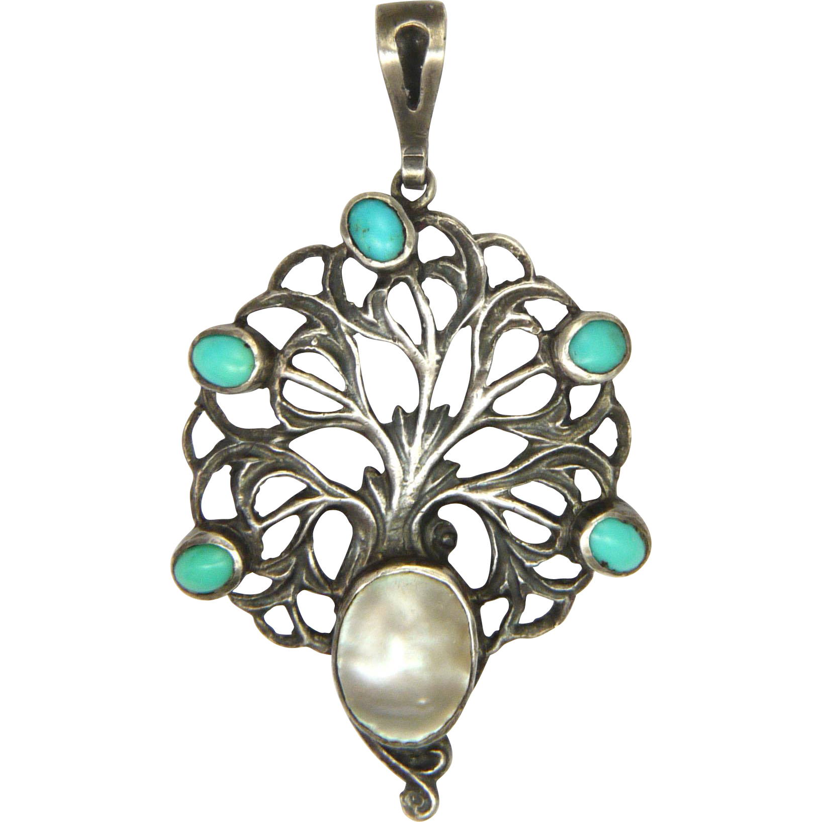 English arts and crafts sterling turquoise and pearl for Pearl arts and crafts closing